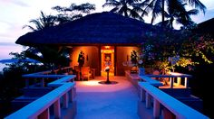 A room at the Amankila resort in Bali, one of our top honeymoon destinations