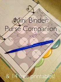 Easy As DIY: DIY: Mini Binder Purse Companion & 14 Free Printables!