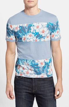 Men's Original Floral Block Print T-Shirt