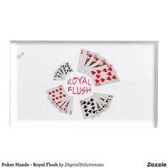 Poker Hands - Royal Flush Table Number Holder