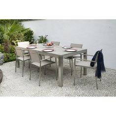 Salon de jardin Antibes NATERIAL gris, 6 personnes | Table de ...