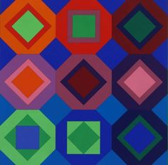design-is-fine:  Victor Vasarely, Folkokta, 1973. Collage. Via Museum of Fine Arts, Budapest.
