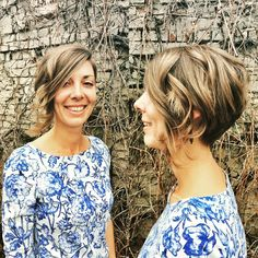 Loving this sassy asymmetrical cut just in time for spring! Hair by Deona Hurd. A Symmetrical Bob, Short Blonde Bobs, Positive Outlook On Life, Spring Hair, Short Cuts, Cut And Color, Sassy, Love Her, Salons