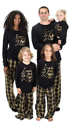Matching Family Christmas Pajamas For a Cozy Christmas - Family Pajamas - Ideas of Family Pajamas - KAMAL OHAVA Personalized Matching Family Christmas Pajamas in black/gold Other color options available Xmas Pjs, Matching Family Christmas Pajamas, Family Pjs, Family Christmas Pictures, Matching Pajamas, Cute Pajamas, Family Outfits, Pajamas Women, Christmas Shirts