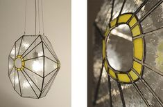Stained glass lamp by Kordvitro. Tiffany 2.0, modern design.