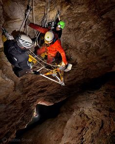 Photo by @shonephoto (Robbie Shone) - Perched on a triangular shaped aluminium platform several hundred feet above the floor of the great chamber in El Cenote (cave) in the Italian Dolomites the laser scanning team carry out one final scan of the upper section of the giant shaft. From my lofty position a little ways above I watch with bated breath as they carefully fix into position the very expensive high precision instrument without dropping anything. The 3D scan from up here will tie in…