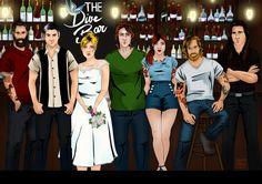 The Dive Bar series from Kylie Scott - art