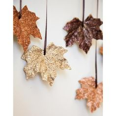 Cheap, Easy DIY Decorating Idea Craft with Painted Fall Leaves featuring polyvore, backgrounds, pictures, autumn, photos, other and filler
