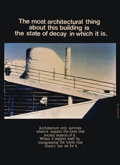 Bernard Tschumi, Advertisements for Architecture, 1975