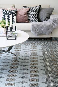 carpet + soft + pink + grey + turqoise