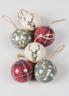 Christmas 6 Pack Bauble Tree Decorations - Matalan
