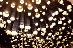 Kluchi Bar Studio by Peter Kostelov Moscow 15 Kluchi Bar Studio by Peter Kostelov, Alexey Rozenberg, Anton Grechko, Moscow Facade Lighting, Modern Lighting, Lighting Design, Lite Brite, Bar Interior Design, Ceiling Installation, Contemporary Bar, Design Furniture, Beautiful Space