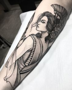Like the dot and line work Greek Goddess Tattoo, Greek God Tattoo, Greek Mythology Tattoos, God Tattoos, Future Tattoos, Body Art Tattoos, Cover Tattoo, Arm Tattoo, Sleeve Tattoos