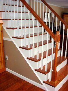 Elegant Handy Man, Crafty Woman: Stairway Remodel, Before U0026 After