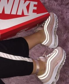 pin ' @kjvougee ❤️ Sneakers Fashion, Fashion Shoes, Shoes Sneakers, Boy Shoes, Me Too Shoes, Hype Shoes, Shoe Department, Sneaker Heels, Air Max 97