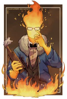 Genocide! Grillby | Artist BlackCat5643 I wish this was a boss fight!