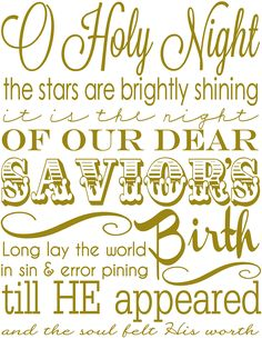 The Girl Creative O Holy Night Subway Art Freebies Freeprintables - Clipart Suggest Christmas Subway Art, Christmas Quotes, Christmas Signs, Winter Christmas, All Things Christmas, Christmas Holidays, Merry Christmas, Happy Holidays, Christmas Jesus