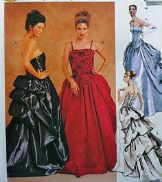 Amazon.com: McCalls 2232 Evening Gown Gathered Bustle Prom Bridal Evening Elegance Pattern Size 10-12-14: Arts, Crafts & Sewing