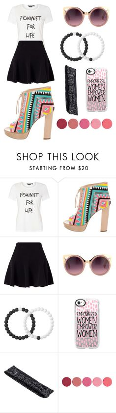 """""""Block Heels ~ Empowered Women"""" by corinned09 ❤ liked on Polyvore featuring Dorothy Perkins, Jerome C. Rousseau, Miss Selfridge, Erdem, Lokai, Casetify, Empower and Kjaer Weis"""