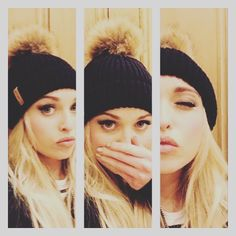 Hollyoaks Jorgie Porter in one of our classic Fur Bobble Hats