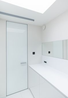 Modern White Interior Doors invisible interior doors, custom-made with a invisible aluminium