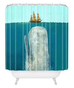 Look at this #zulilyfind! The Whale Shower Curtain #zulilyfinds