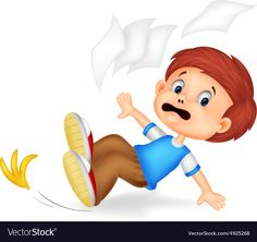 Cartoon boy fall down Royalty Free Vector Image Good Habits For Kids, Safety Rules For Kids, Cartoon Boy, Colouring Pics, English Classroom, Bird Crafts, Kid Character, Language Development, Good Notes