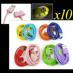 10X 3FT USB 30PIN BLUE CABLE DATA CHARGER FOR GALAXY TAB 7.0 PLUS 8.9 10.1