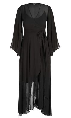 77936778e3c44 City Chic - FLEETWOOD MAXI DRESS - Women s Plus Size Fashion Maxi Wrap  Dress