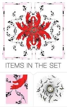 """""""Hand Flower: 2 items"""" by capricat ❤ liked on Polyvore featuring art"""