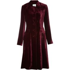 Dickins & Jones Ladies Silk Velvet Long Coat (€135) ❤ liked on Polyvore featuring outerwear, coats, jackets, dresses, women, red velvet coat, red coat, long coat, single breasted coat and long sleeve coat