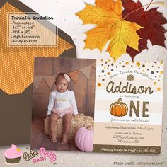 Glitter Gold Little Pumpkin Birthday Party Photo by CutePartyDash