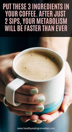 Put These 3 Ingredients in Your Coffee. After Just 2 Sips, Your Metabolism Will … Put These 3 Ingredients in Your Coffee. After Just 2 Sips, Your Metabolism Will Be Faster Than Ever! Natural Health Remedies, Herbal Remedies, Cold Remedies, Natural Cures, Bloating Remedies, Sleep Remedies, Health Benefits, Health Tips, Key Health