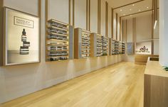 Three new Aesop stores in Singapore provide distinct experiences drawn from the locale's rich history. Australian Interior Design, Interior Design Awards, Retail Interior, Store Interiors, Wood Interiors, Pharmacy Design, Retail Design, Timber Shelves, Jewelry Store Design