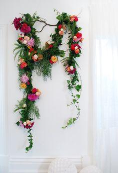 Create a fresh flower garland