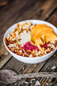 Tropical pineapple and coconut breakfast bowl.
