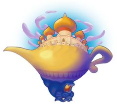 Aladdin art. The best part is the Cave of Wonders.