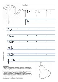 Alphabet Writing Practice, Cursive Writing Worksheets, School Worksheets, French Language Lessons, French Language Learning, French Lessons, Abc Phonics, Jolly Phonics, Letter Activities