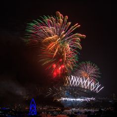 'Lions Head' during the Sydney New Year Eve's 2014 fireworks