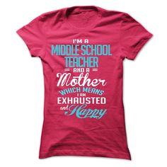 I am a MIDDLE SCHOOL TEACHER T-Shirts, Hoodies. BUY IT NOW ==► https://www.sunfrog.com/LifeStyle/I-am-a-MIDDLE-SCHOOL-TEACHER-29767177-Ladies.html?id=41382