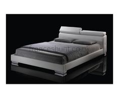 Austin faux leather bed