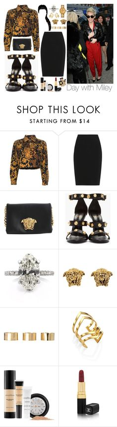 """""""Day with Miley"""" by perfectiongod ❤ liked on Polyvore featuring Cyrus, Versace, Lanvin, ASOS, Jennifer Zeuner, Smashbox and Chanel"""