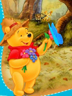 Animated Screensavers - Winnie The Pooh 6 Cute Winnie The Pooh, Winne The Pooh, Winnie The Pooh Quotes, Winnie The Pooh Friends, Arte Disney, Disney Fun, Eeyore, Tigger, Animated Screensavers