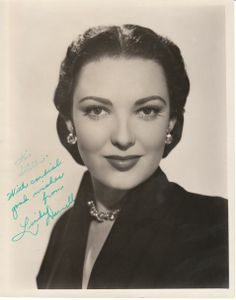Linda Darnell 10x8 signed photograph