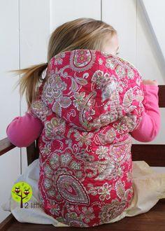Little girls vest....SOOOOOO flippin cute!  Gotta try it.  I LOVE vests on little girlies!