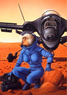 "Jim Burns' illustration for ""Venus Prime: Hide and Seek"" (1989)"