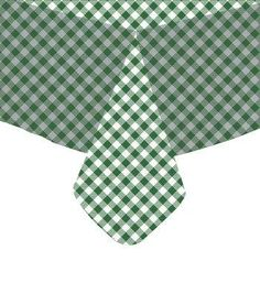 Genial Tablecloth Vinyl Gingham Check Hunter