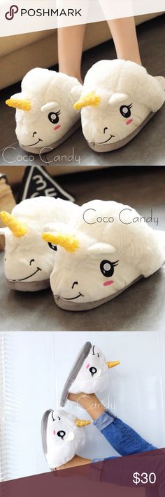 ⭐️SALE‼️Unicorn Slippers Unicorn Slippers✨  Size: 7.5 (Small/Medium)✨  Color: White & Pink✨  New With Tags✨  Stay warm in these super soft & plush unicorn slippers. Perfect for lounging. Very cute & comfortable. Great for those cold fall & winter nights. Will fit sizes small & medium✨  Buy now or submit a offer today✨  ⭐No Trades ⭐No Modeling ⭐️Use The Offer Button ⭐️15% Off 2 Or More Items ⭐️Free Gift With Every Order ⭐️Same Day / Next Day Shipping Shoes Slippers