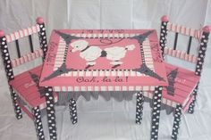 pink poodle table
