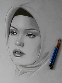 Eve channel Portrait Sketches, Pencil Portrait, Portrait Art, Art Sketches, Beautiful Pencil Sketches, Beautiful Drawings, Pencil Drawings Of Girls, Cool Art Drawings, Girl Face Drawing